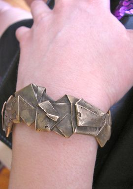 Custom Made Folded Gold Cuff Bracelet - Made To Order