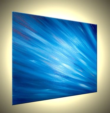 Custom Made Abstract Original Blue Media Painting By Lafferty Sale 22% Off