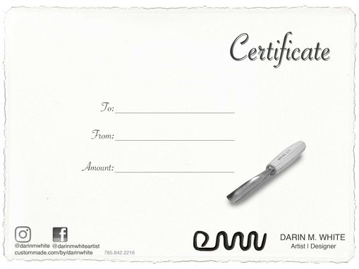 Custom Made Gift Certificate