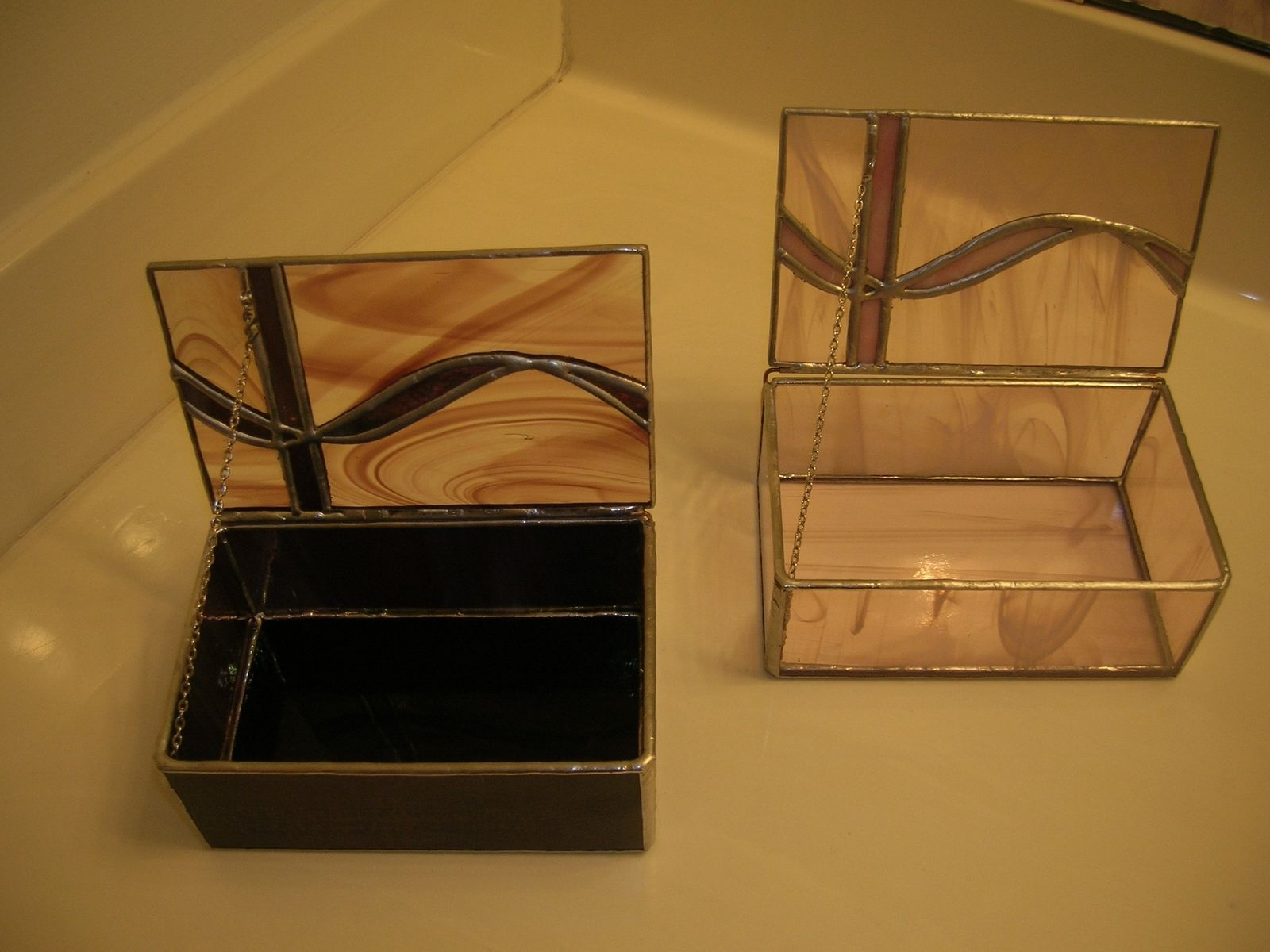 Custom Made Stained Glass Jewelry Box By Ibg Creative