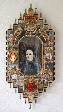 Custom Made St. Tom, Mixed Media Decorative Icon