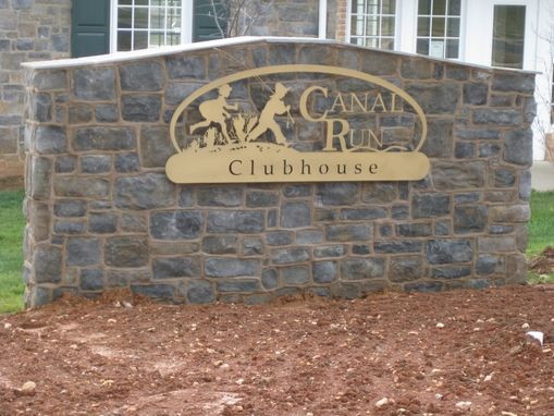 Custom Made Custom Sign For Canal Run