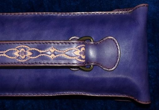 Custom Made Violet Leather Poolstick Case