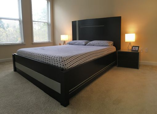 Custom Made Modern Queen Size Set (Black And Gray)
