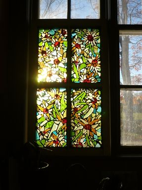 Custom Made Sunflower Mosaic Stained Glass