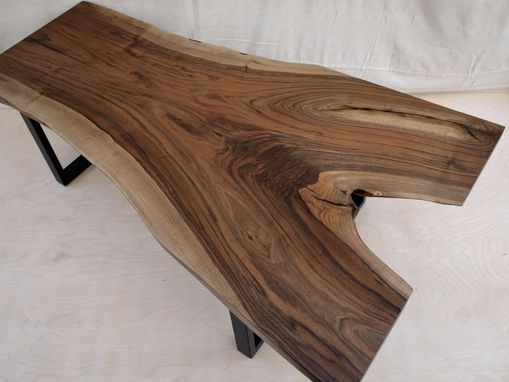 Custom Made Live Edge English Walnut Coffee Table