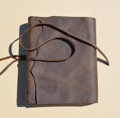 Custom Made Custom Order Leather Bound Notebook Lined Brown Journal Travel Diary (501)