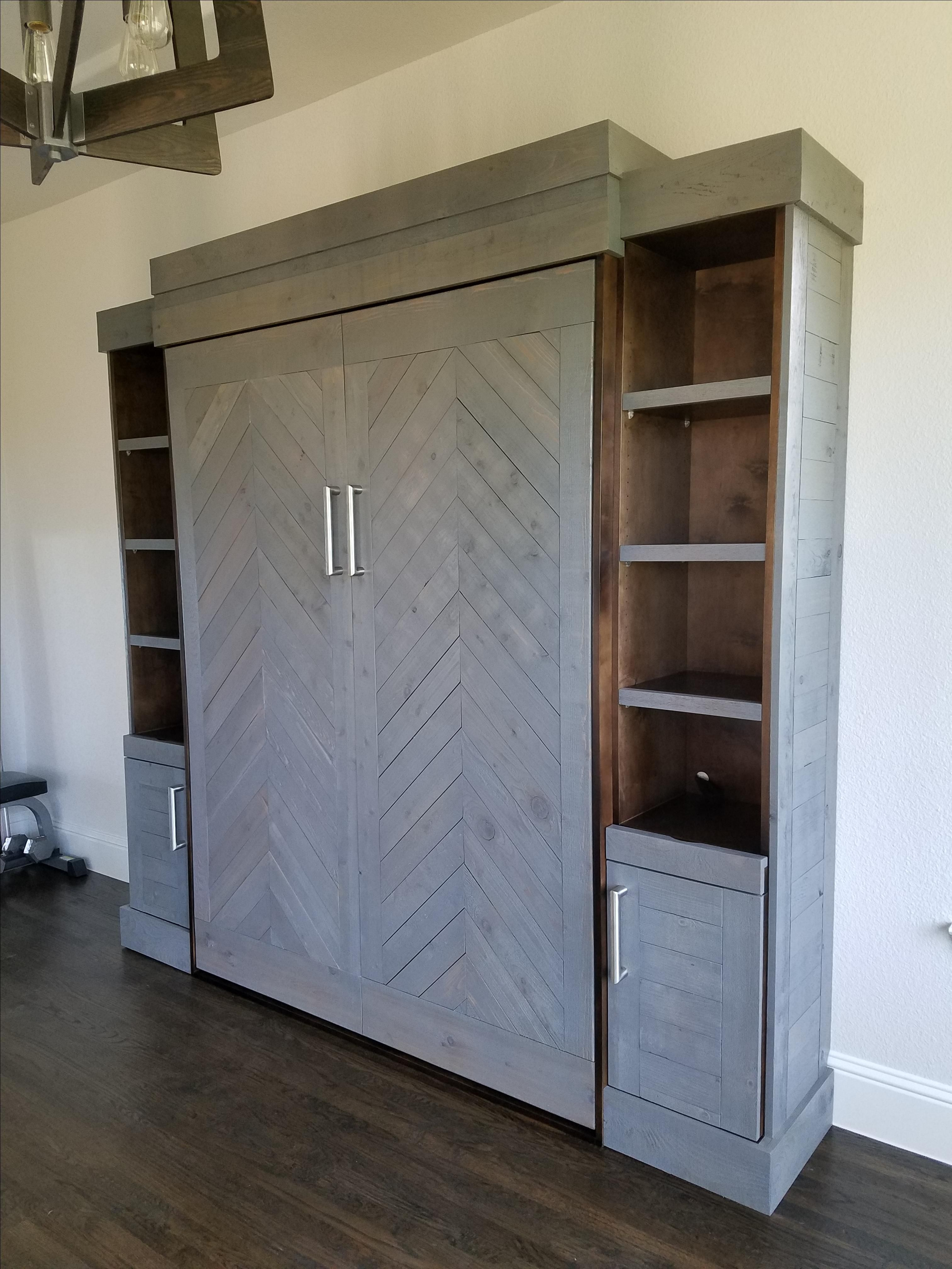 Tiny Home Designs: Handmade Custom Murphy Bed Design By Royals Remodeling
