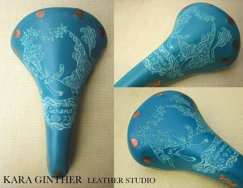 Custom Made Hand-Carved Brooks Bicycle Saddles