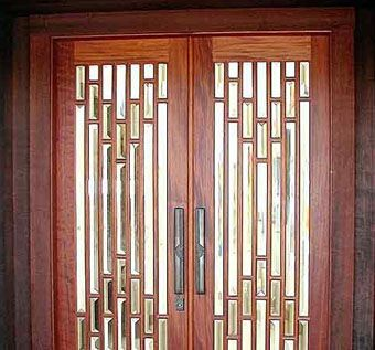 Custom Made Exterior Mahogany Entry Doors