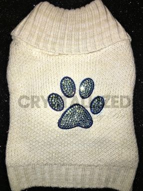 Custom Made Crystallized Dog Sweater Made With Swarovski Crystals