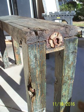 Custom Made Reclaimed Bench