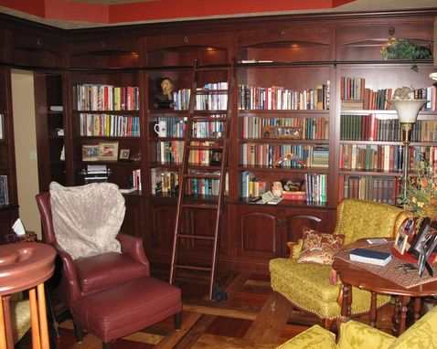 Custom Made Custom Library And Dining Room