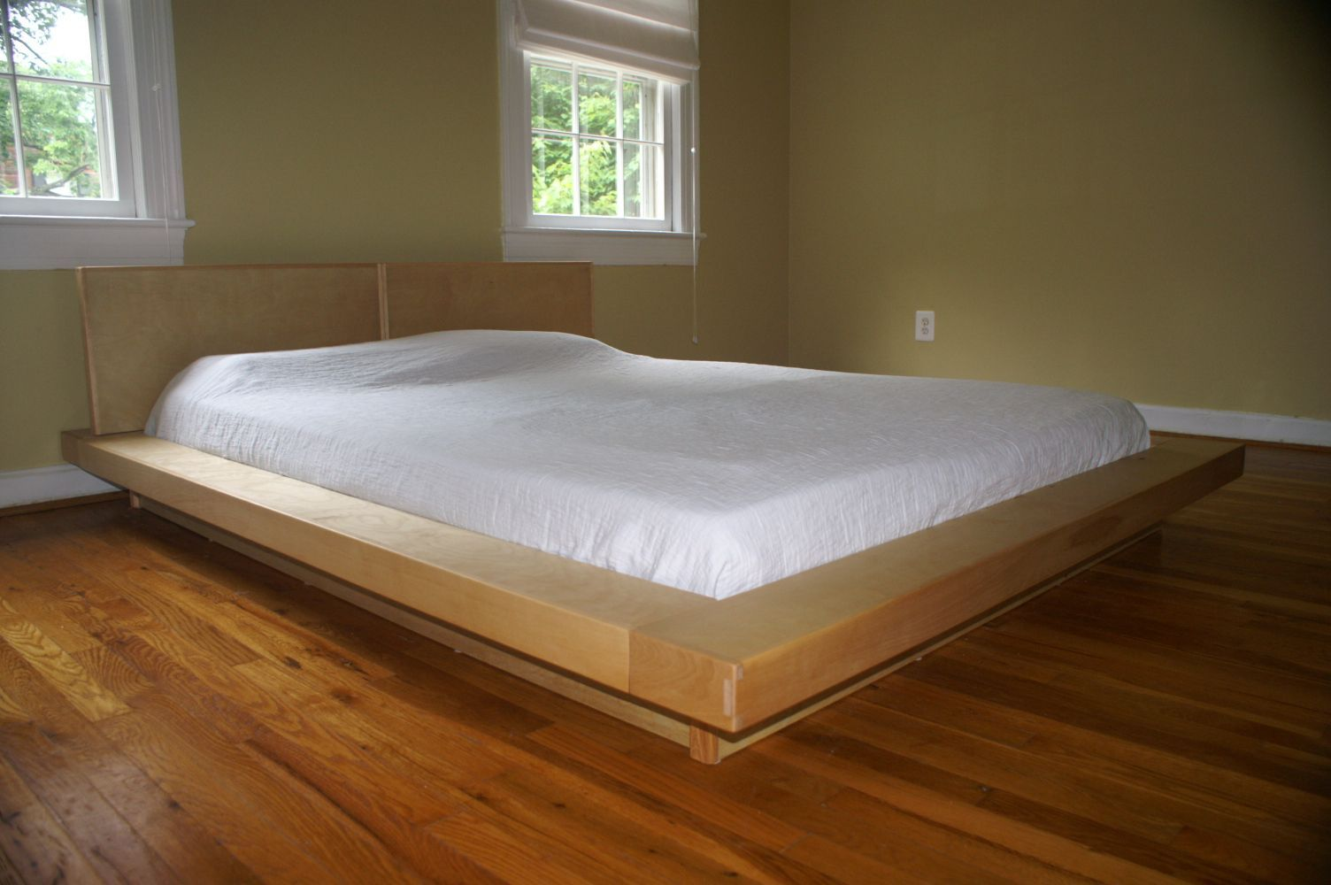 Hand Made King Size Platform Bedframe Bed By Edward