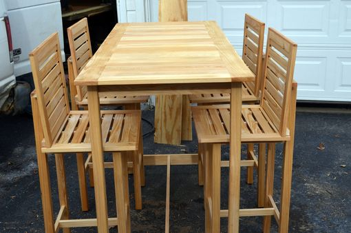Custom Made Bar Height Table And 4 Chairs Made For Outdoor Use
