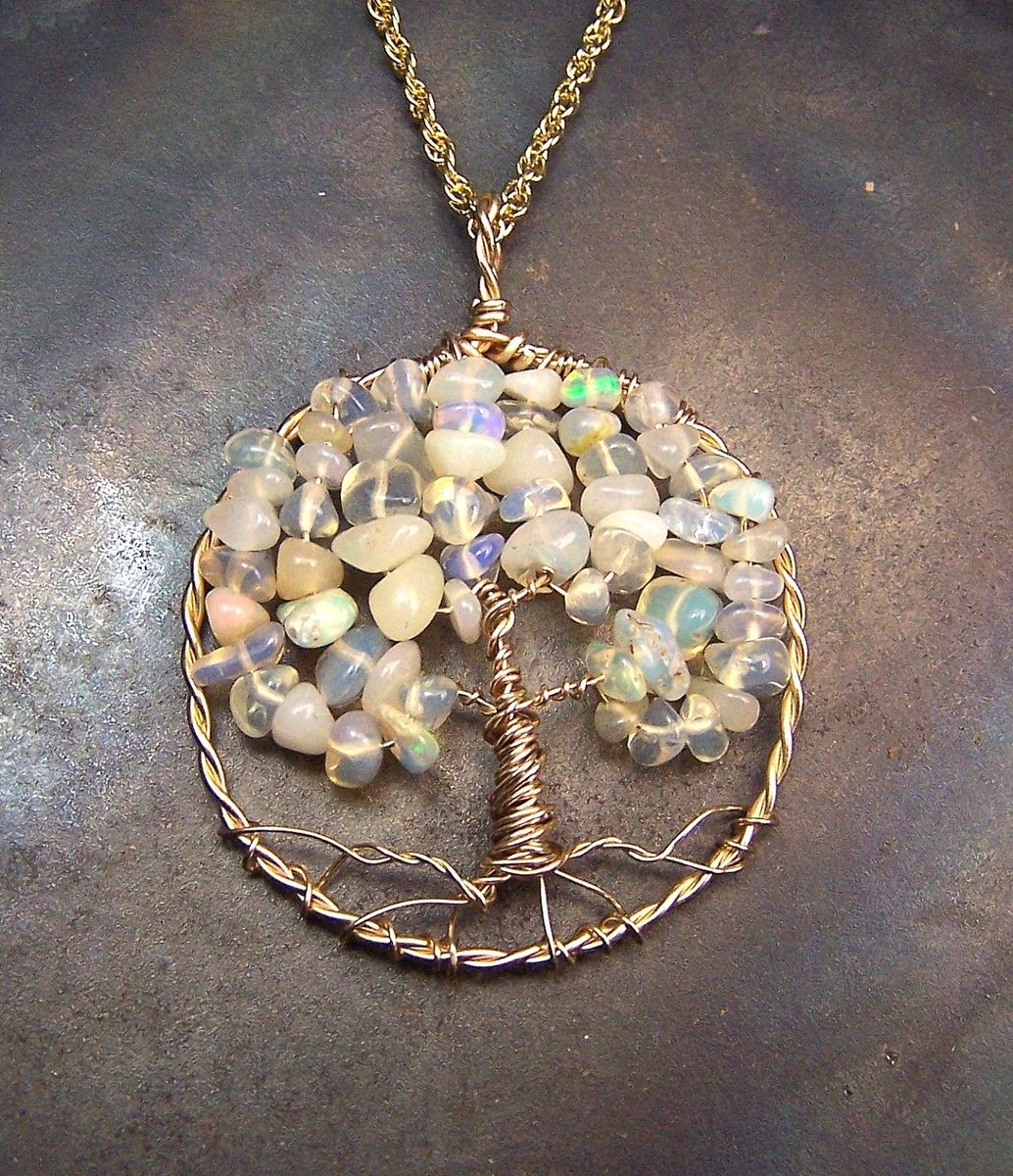 Hand made opal tree of life pendant ethiopian opal welo opal custom made opal tree of life pendant ethiopian opal welo opal wello mozeypictures Gallery
