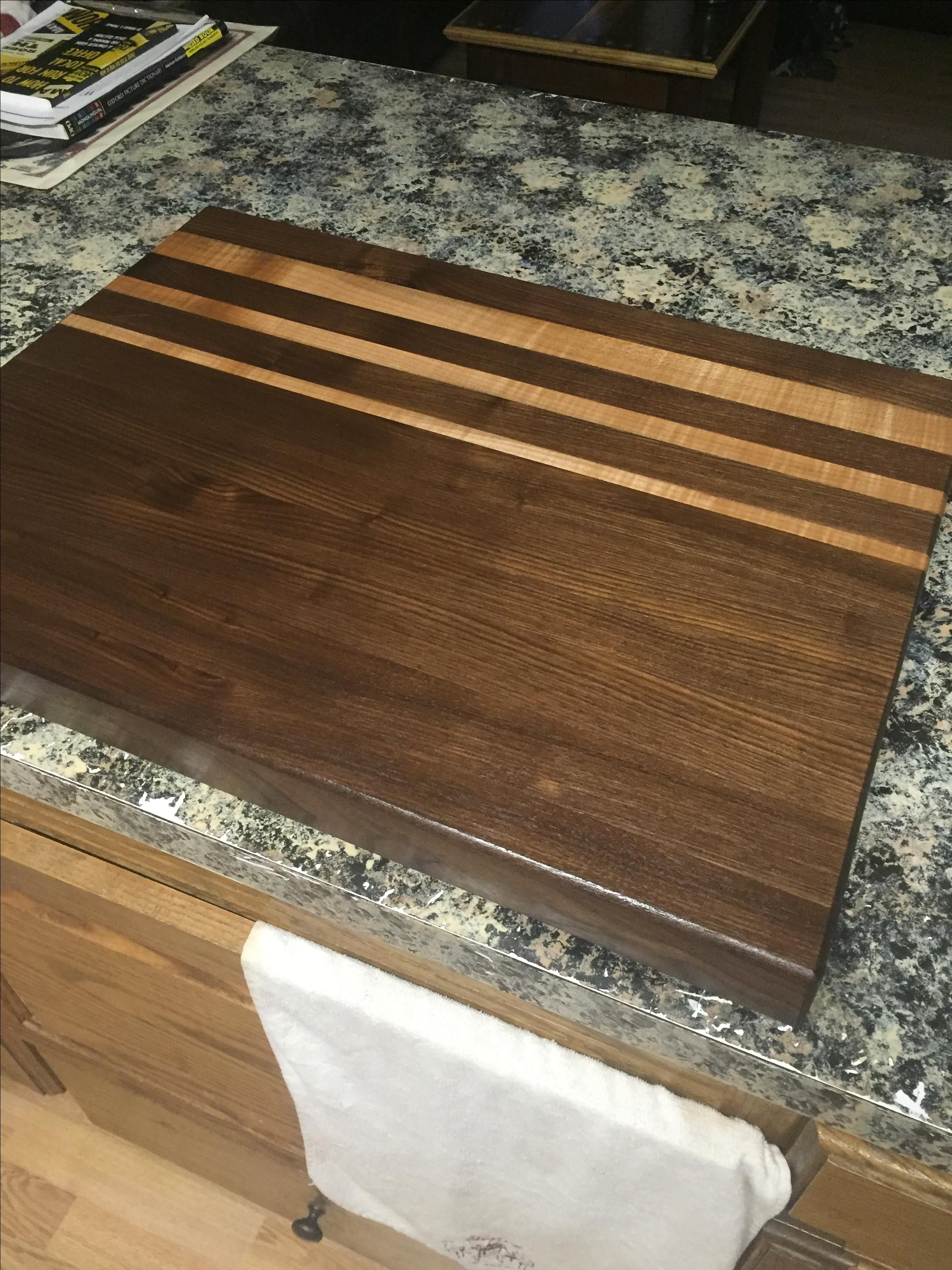 Handmade Black Walnut And Oak Cutting Board By Effinger