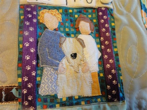 Custom Made Pet Memorial Quilt- Large Beloved Buddy Quilt