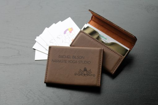 Custom Made Custom Business Card Holder --Bch-Db-Rachel Bison
