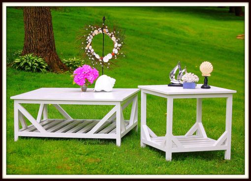Custom Made Beaches Rustic Coffee And Side Table Set
