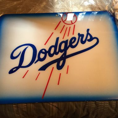 Custom Made Metal Dodgers Plaque.