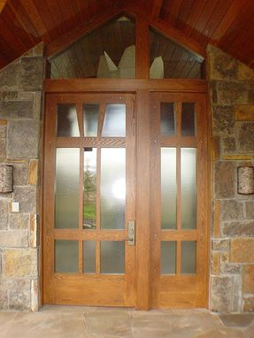 Custom Made Contemporary White Oak Front Entrance