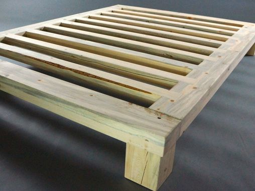 Custom Made Beetle Kill/ Blue Stain Platform Bed