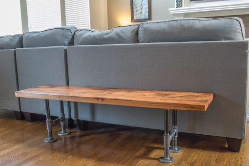 Custom Made Red Oak Bench | Industrial Bench | Barn Wood Bench