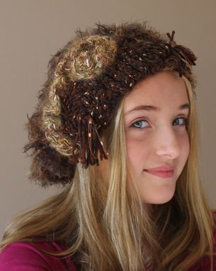 Custom Made Coffee Mink, Fiber Art, Hat