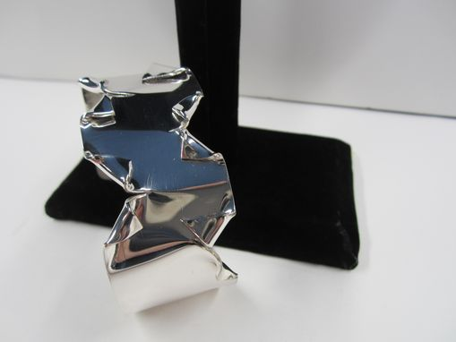 Custom Made Sterling Silver Cuff Bracelet With