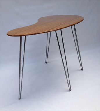 custom standing desk kidney shaped mid. Standing Desk Kidney Shaped Mid Century Modern Custom N