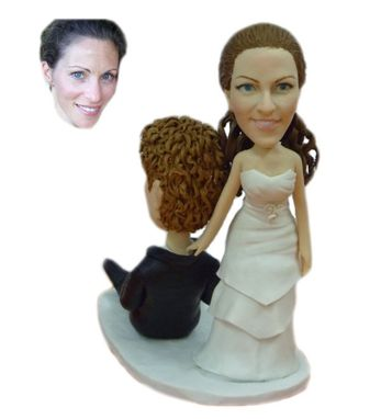 Custom Made Custom Wedding Cake Topper Made From Your Photo