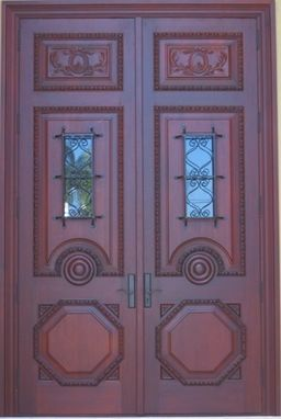 Custom Made Custom Carved Double Door