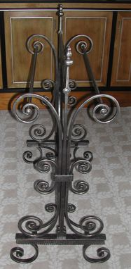 Custom Made Wrought Iron Duvet Stands
