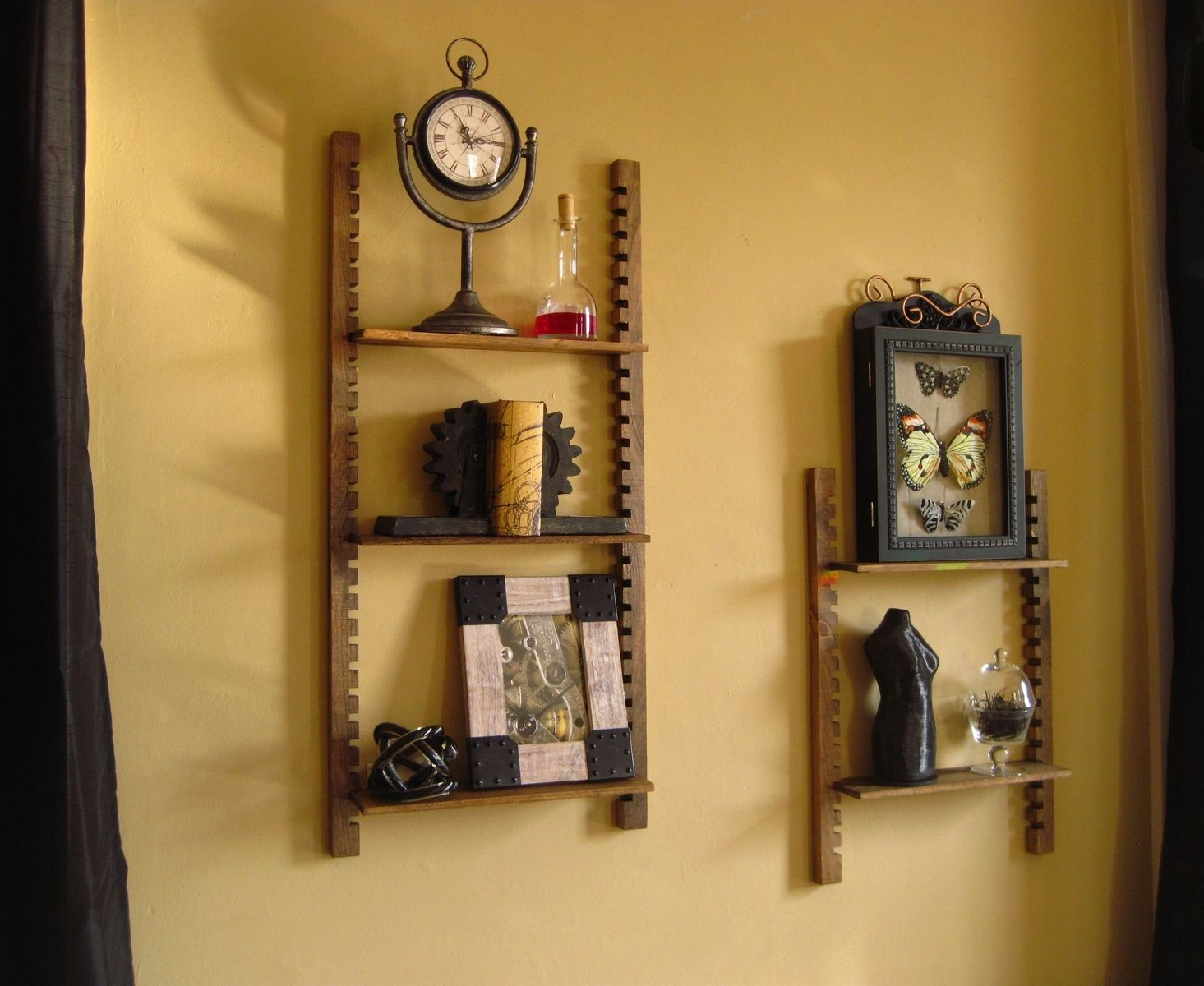 Handmade Steampunk Cog Shelf by Sky Mountain Woodcraft | CustomMade.com