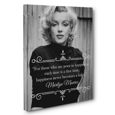 Custom Made Marilyn Monroe Motivation Quote Canvas Wall Art