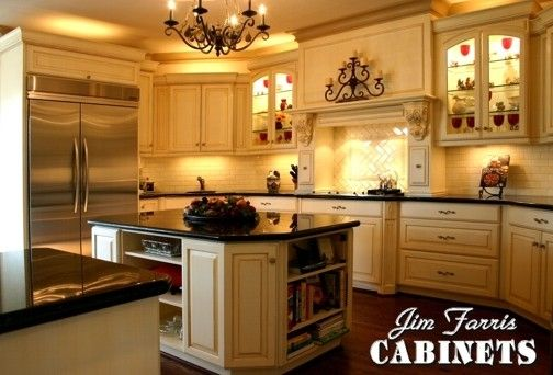 Custom Made Glazed French Country Kitchen