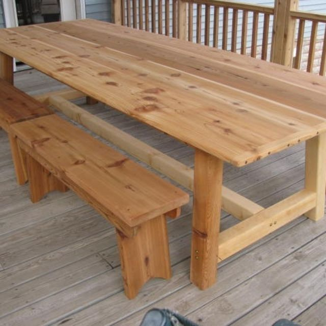 Handmade Large Outdoor Dining Table Cedar By Jeffbuildsfurniture Custommade