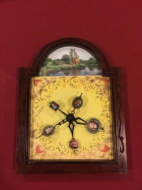 Custom Made Molly Weasley's Clock Customized With Your Family Photos From Harry Potter -Lite