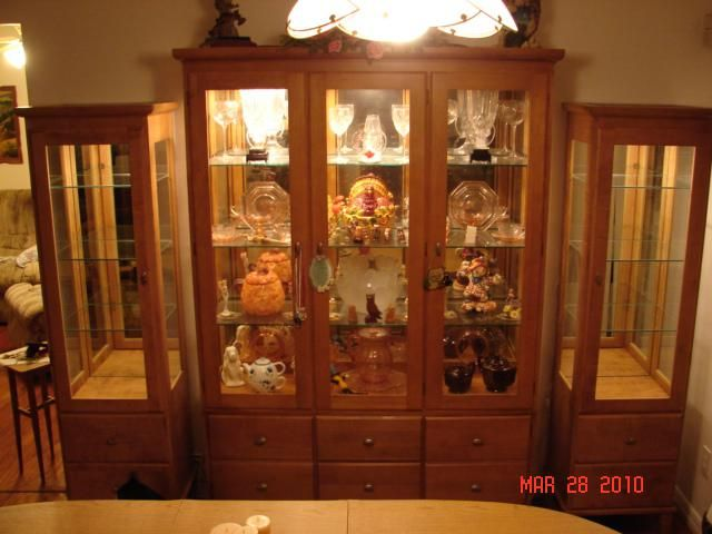 Custom Made Maple Curio Cabinets