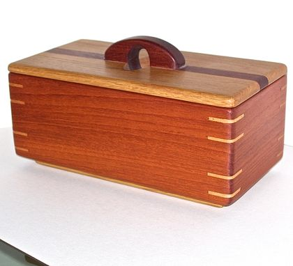 Custom Made Mahogany And Oak Keepsake Box