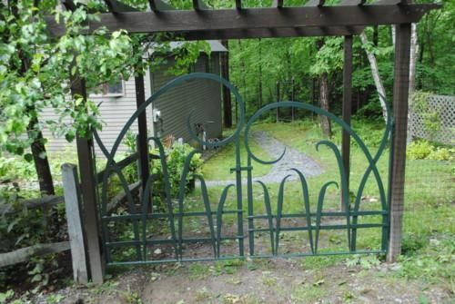Custom Made Forged Iron Garden Gates