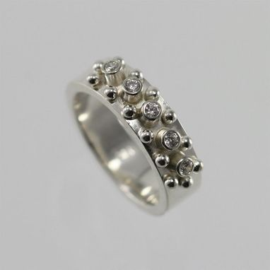 Custom Made 5 Stone W-14 Ball Ring (Cubic Zirconia) Made To Order