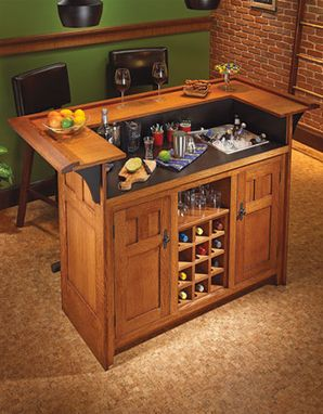 Custom Made Arts And Crafts Style Bar