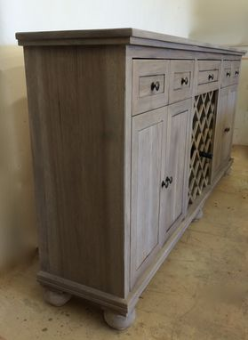 Custom Made Buffet With Wine Storage
