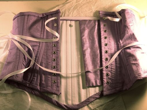 Custom Made Silk & Coutil Wedding Corset