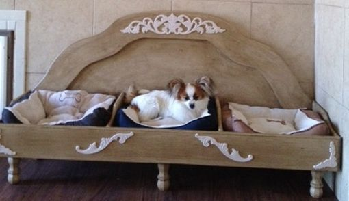Custom Made Raised Dog Bed For 3 Dogs