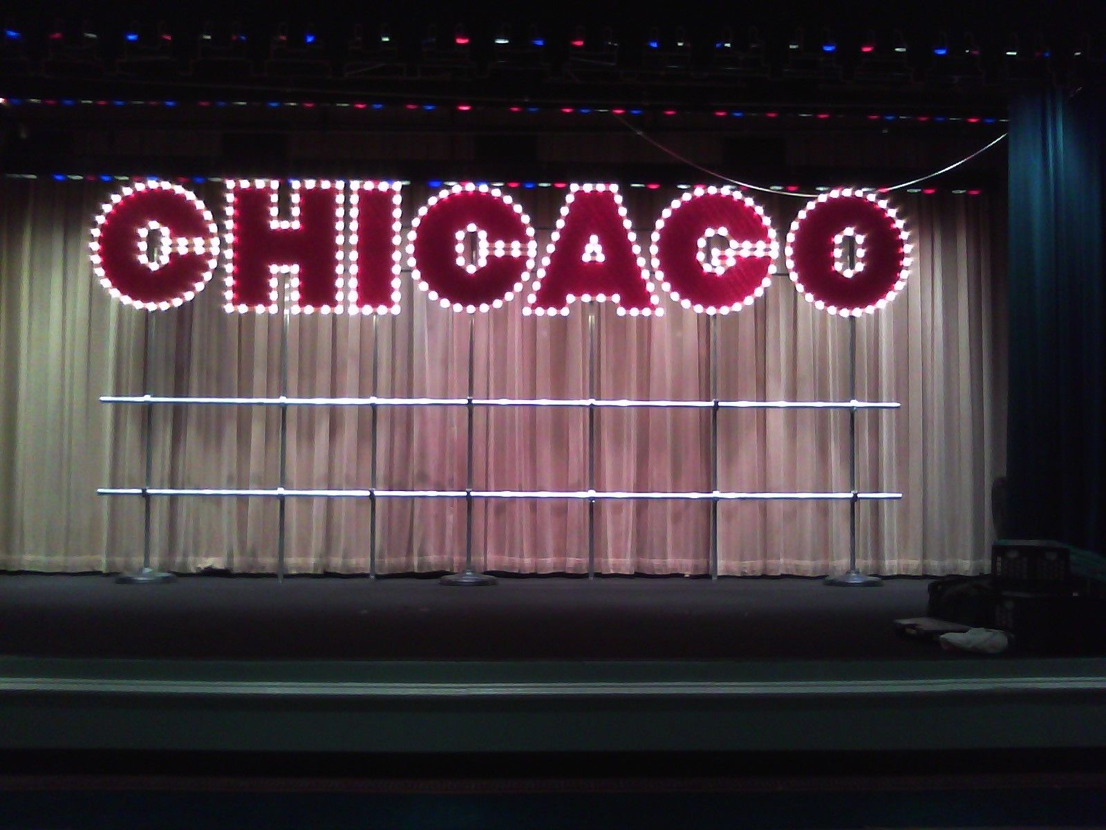 handmade large chicago sign broadway style by