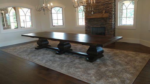 Custom Made Massive 15 1/2 Ft Reclaimed Oak Table