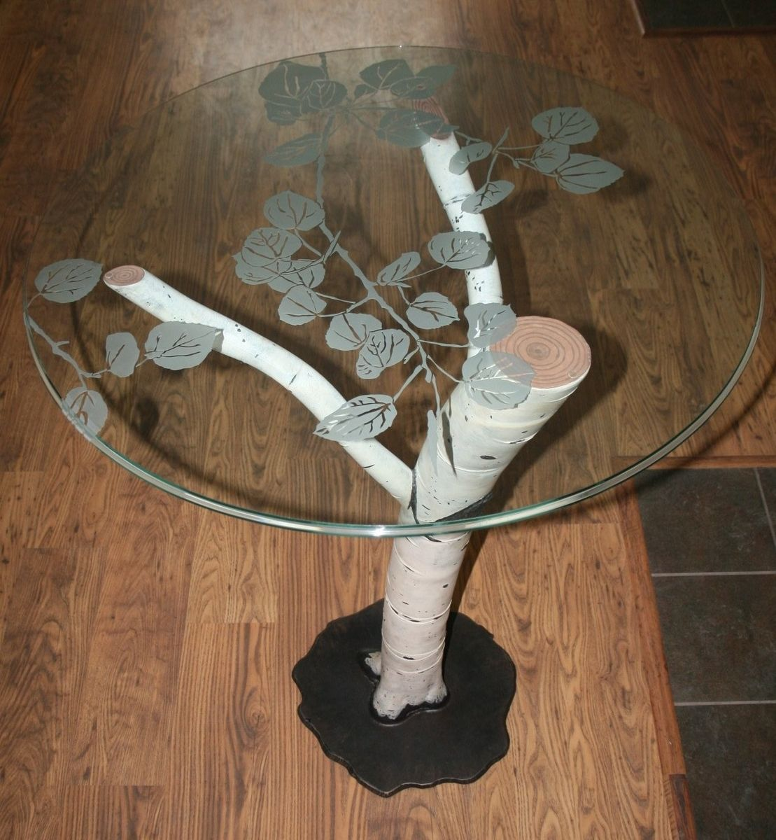 Hand Crafted Aspen Inspired Cocktail Table By Iron
